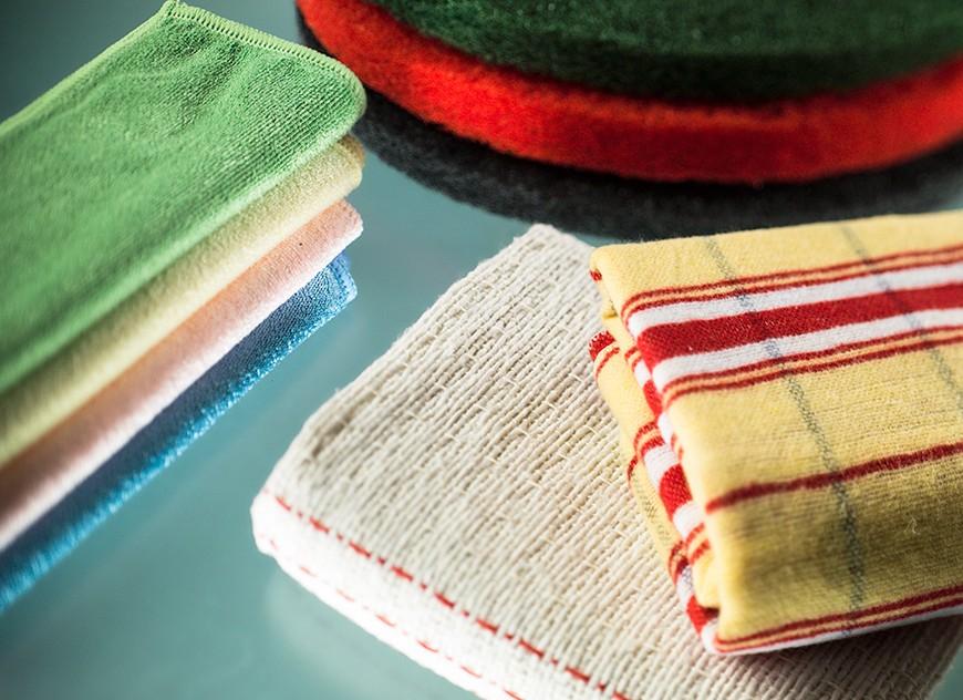 Tücher und Reinigungsscheiben